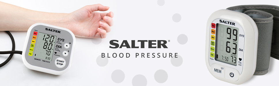 Salter Automatic Upper Arm Blood Pressure Monitor For Home Use, Heartbeat Detector