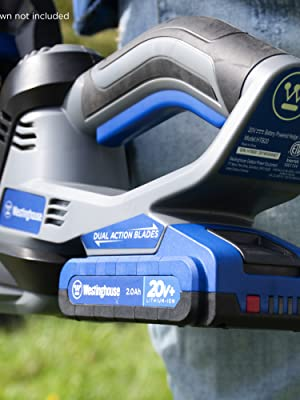 westinghouse lithium ion 2ah battery technology cordless lawn garden no memory loss low discharge