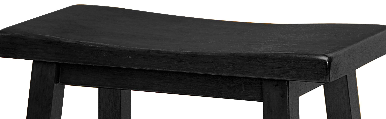 Amazon Com Winsome Wood 24 Inch Saddle Seat Counter Stool
