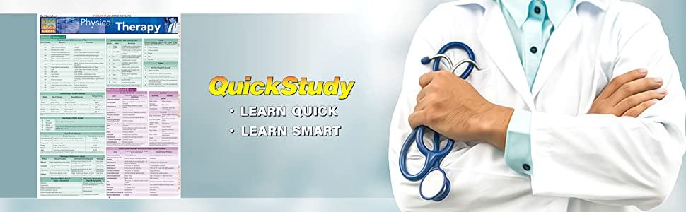 QuickStudy Physical Therapy Study Reference Guide BarCharts Publishing Medical Rehabilitation