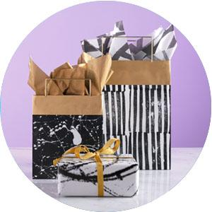 gift bag with tissue paper, tissue paper and gift bag, gift bags, gift bag