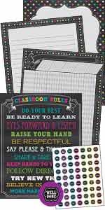 Chalkboard Brights Classroom Essentials Chart Pack