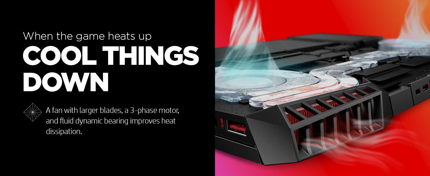 cool fan blades 3-phase motor fluid dynamic bearing heat dissipation