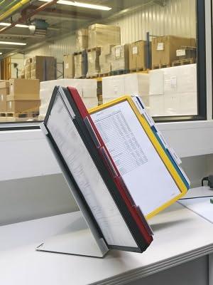 5 St/ück gr/ün dokumentenecht mit matter Folie und stabilem Rahmen Durable Sichttafeln A4