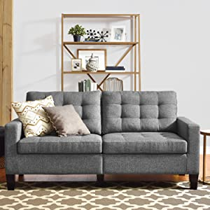 Dorel Living Bowie Sofa, Gray