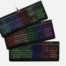 5 Zones multi-color customization option