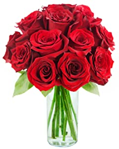 fresh cut red roses with chocolate, fresh red roses, flowers and chocolate, fresh flowers, red roses