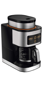 KRUPS coffee maker, coffee maker, coffee machine, grind and brew coffee maker, build-in grinder