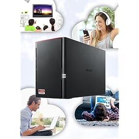 stream, file sharing, storage, data storage, linkstation, cloud, buffalo, buffalo nas