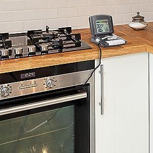 Digitales Grill-Bratenthermometer 14.1502 Anwendung Küche Ofen