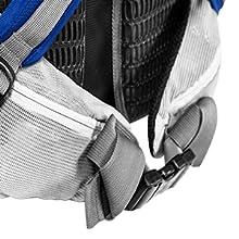 Adjustable waist band and mesh back panel for your comfort