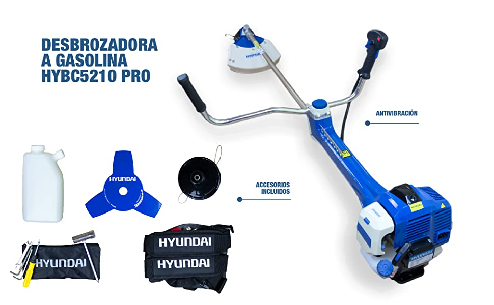 Hyundai HYBC5210-Pro Desbrozadora, AZUL: Amazon.es: Bricolaje y herramientas