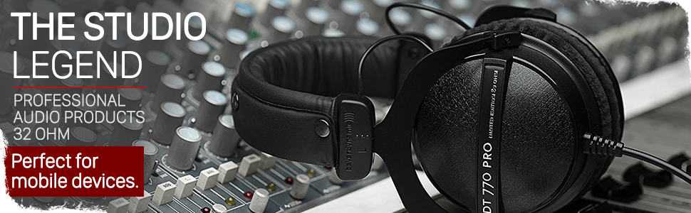 beyerdynamic dt 770 pro professional studio headphones over-ear on-ear mixing recording monitor home