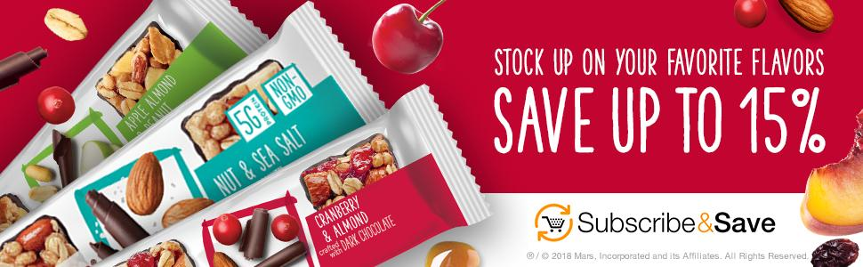 Save on your favorite snacks in bulk when you subscribe to goodnessKNOWS in Amazon.