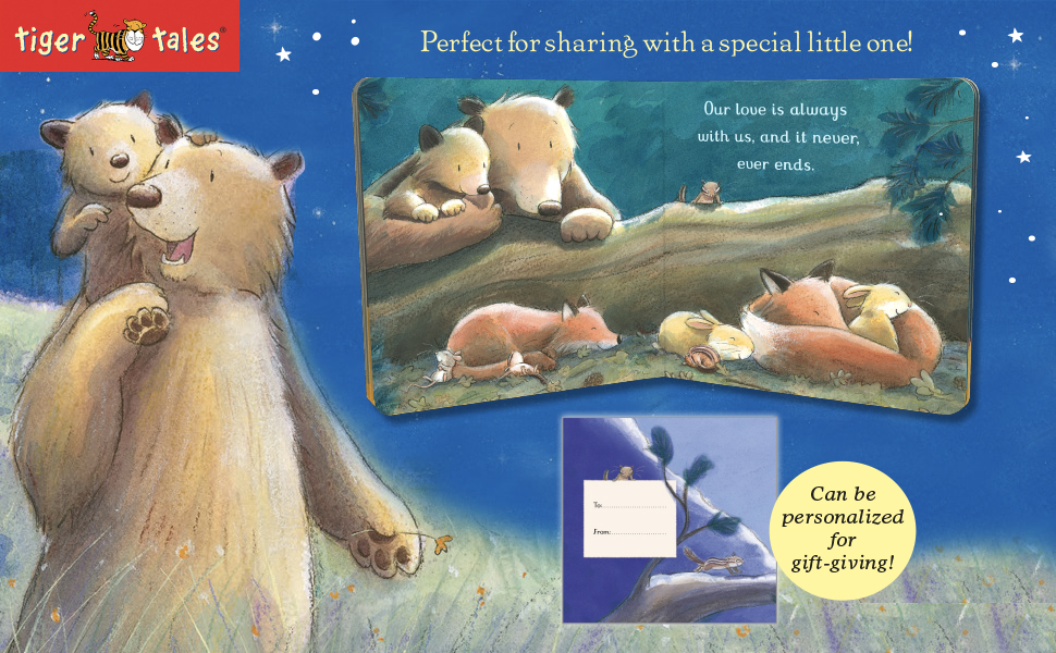 Love, gifts, parents and child, heart warming, Tim Warnes, family, bears,