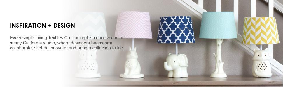 491e4db794dc Lolli Living Lamp Shade – Aqua Zig Zag – Chevron Screen Printed Canvas  Lampshade