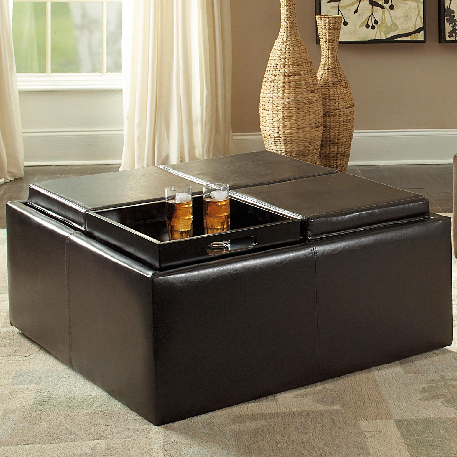 Amazon Com Homelegance Contemporary Storage Ottoman With