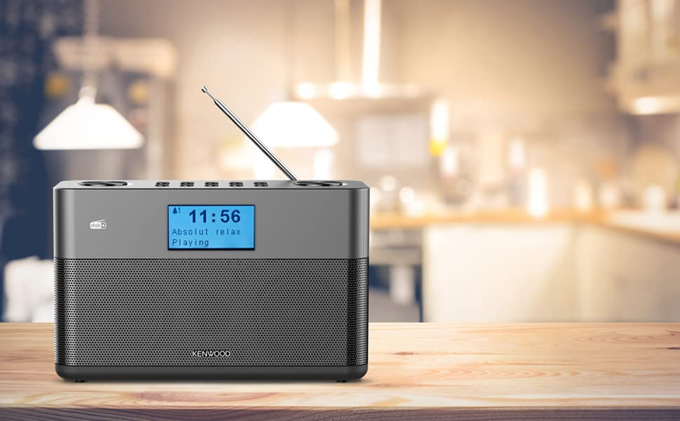 Kenwood Cr St50dab H Stereo Kompaktradio Dab Ukw Bluetooth Line In Kopfhöreranschluss Weckfunktion Farbe Anthrazit Heimkino Tv Video