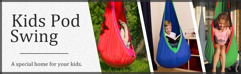 Surprising Hot Amazon Outree Kids Pod Swing Seat 100 Cotton Child Bralicious Painted Fabric Chair Ideas Braliciousco