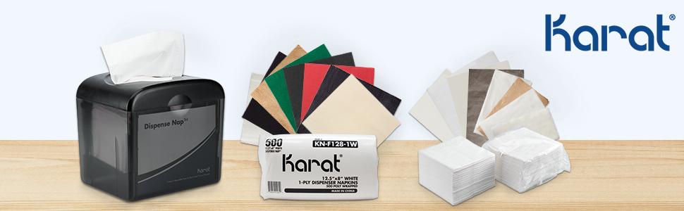 karat beverage napkin,dinner napkin,interfold napkin,off fold napkin,tall fold napkin