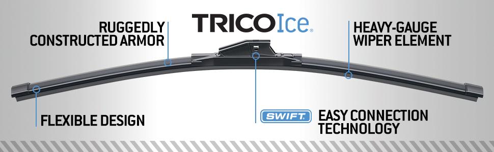 Windshield Wiper Blade-Winter Blade Front//Left TRICO Chill 37-220