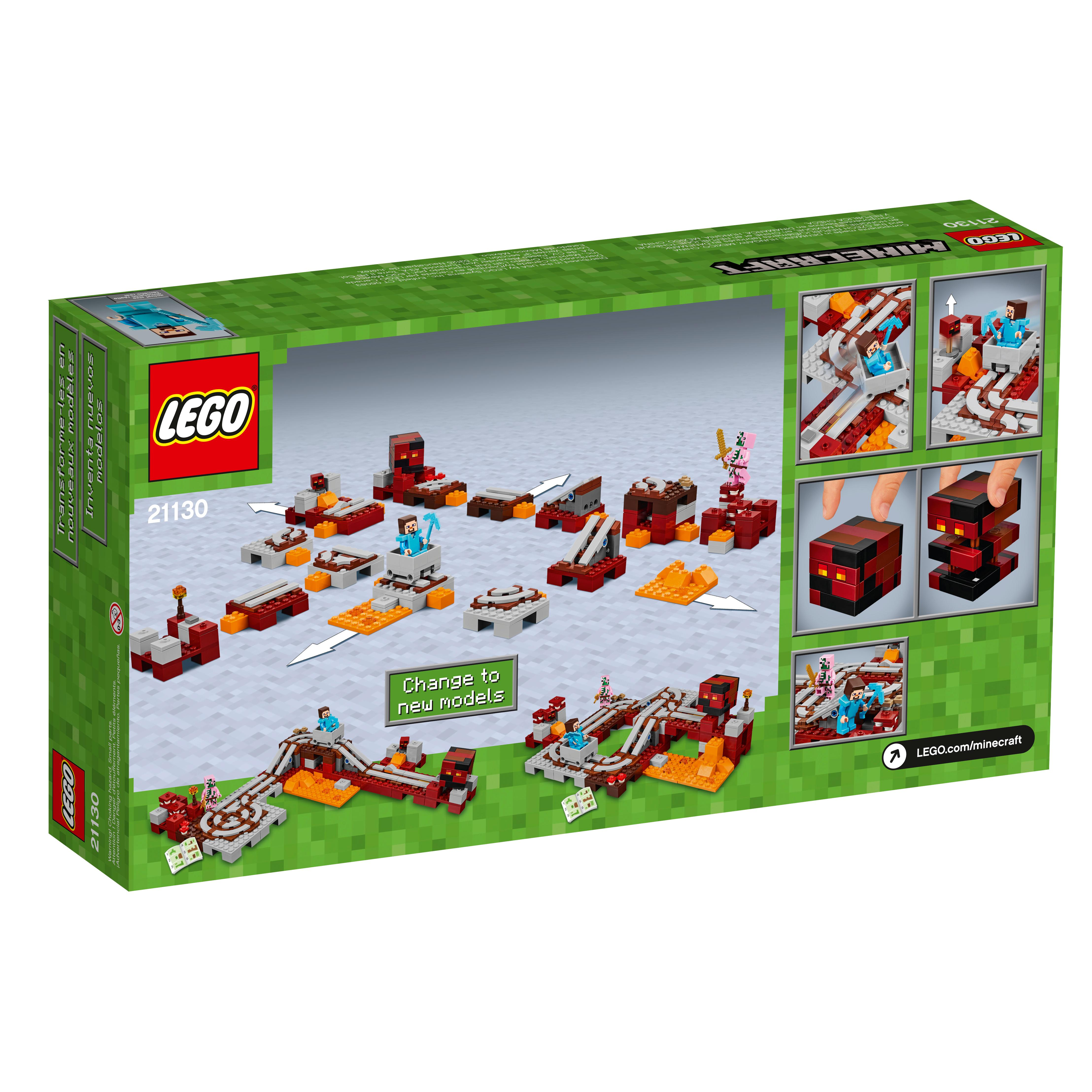 Lego Minecraft The Nether Railway View Larger 21133 Witch Hut Toys Books Story Mode Mindcraft Book Diary Of A Mi