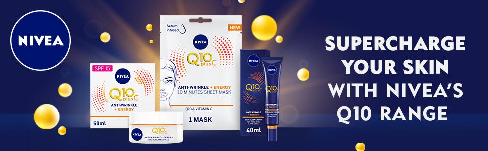 nivea q10 plus c product range