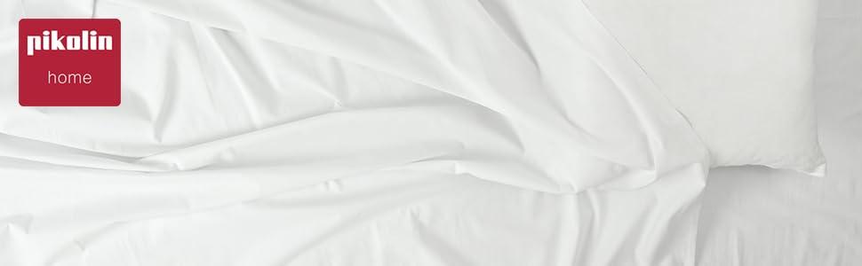 Protector de colch/ón anti/ácaros Pikolin Home Todas las medidas biel/ástico 80x190//200cm-Cama 80cm transpirable