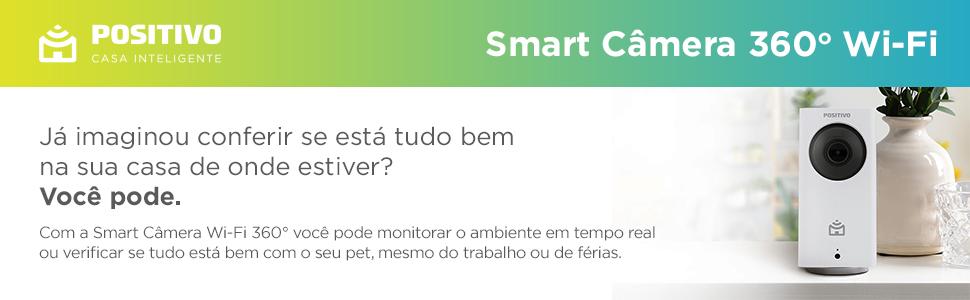 Positivo Casa Inteligente IOT Smart Camera 360 PET