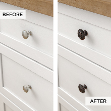 Updating cabinet hardware