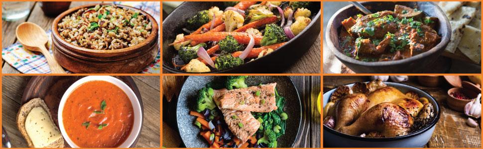 rice, paella, soup, porridge, fish, saute, roast, slow cook, multicooker, recipes, trout, appliance
