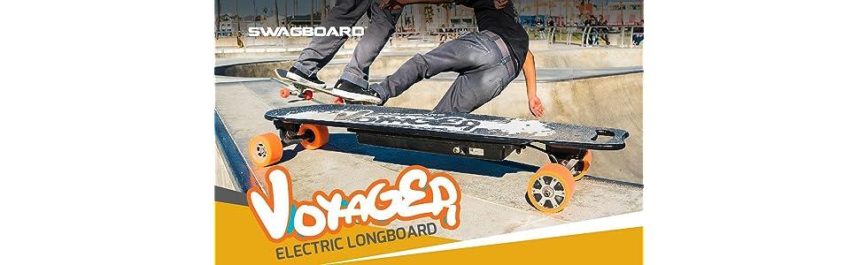 Amazon.com: SWAGTRON SwagBoard Voyager, longboard elé ...