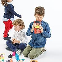 Juego de emociones para niños, juego de construcción, aprende las emociones, juego de valores niños