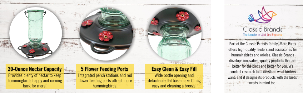 glass bottle hummingbird feeder;classic humminbird feeder;bird feeder;birdfeeder;nectar