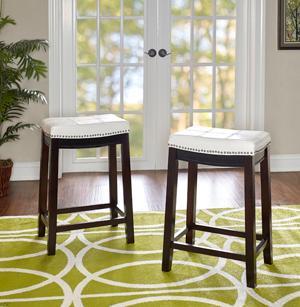 Amazon Com Linon Claridge Patches Counter Stool 26 Inch