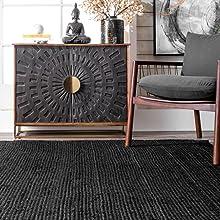 Alfombra de área, alfombra, alfombra de yute, alfombra de yute, fibra natural, alfombra de fibra natural