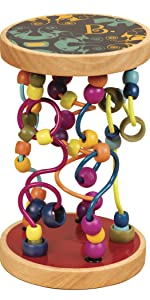 bead, maze, wooden, toy, rain, rainmaker, rolling tower, baby, toddler, puzzle, developmental