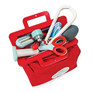 le toy van, ltv, wooden toys, honeybake, role play, TV292, doctor set, bag, kit, retro, stethoscope