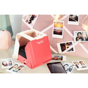 Kiipix Portable Portable Printer Photo Scanner Compatible With Fujifilm Instax Mini Film Pink Camera Photo