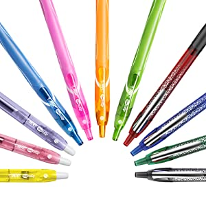 assorted bic gelocity retractable gel pens