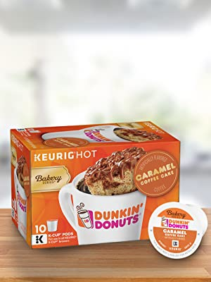 Dunkin Donuts Bakery Series Caramel Coffee Cake Flavored Coffee K