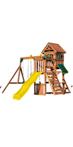 Jamboree Fort, WS 8328, swing set for kids, swing set with slide, wooden swing set, kids play set