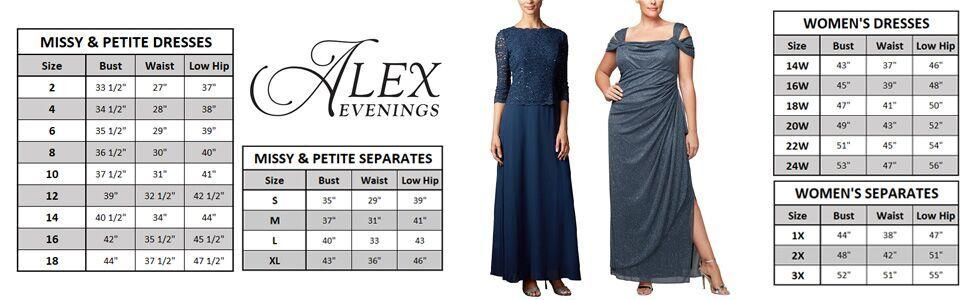 1db3a78b02c9 Alex Evenings Women's Long Mock Dress With Full Circle Satin Skirt (Petite  and Regular Sizes