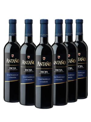 Antaño Crianza - Vino Tinto D.O Rioja - Pack de 6 Botellas x 750 ml: Amazon.es: Alimentación y bebidas