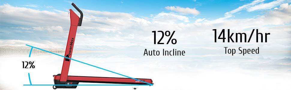 Adult 2.5HP Premium Model Plug And Run Motorized Modern Treadmill Red, Medium 3 Years Motor Warranty