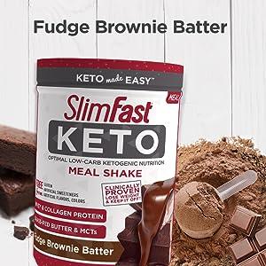 keto fudge brownie batter slimfast