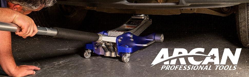 Aiecis gato hidr/áulico de 2 toneladas gato hidr/áulico de piso con caja de almacenamiento para coche furgoneta rojo garaje