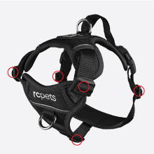 RC Pets Momentum Harness_5 points of adjustability