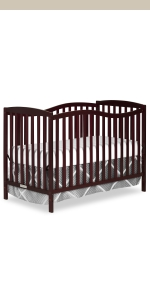 dream on me, cribs, full size, standard, 5 in 1 convertible, toddler bed, day bed, chelsea