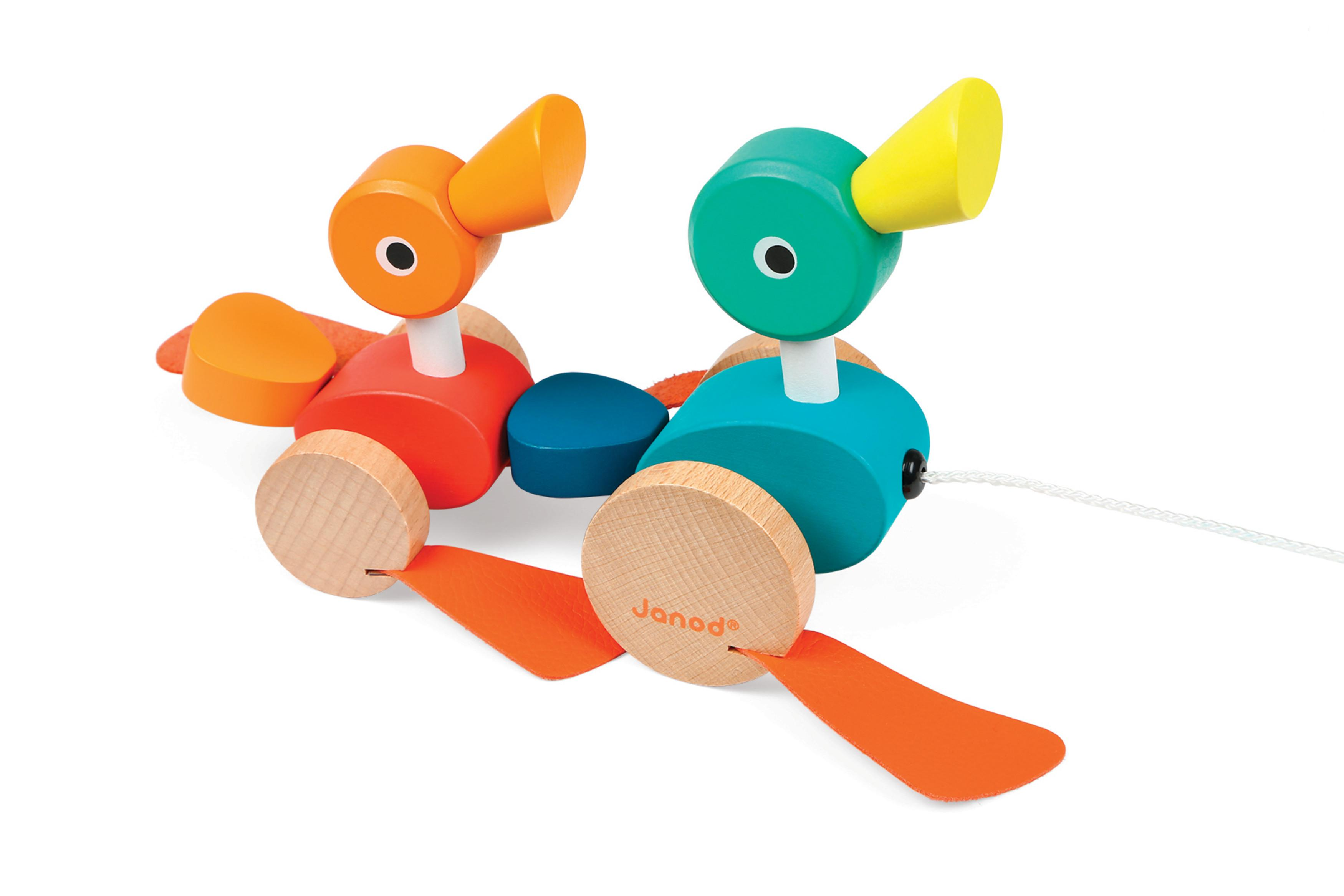 Amazon Janod Duck Family Pull Along Toy Toys & Games